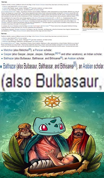 religion pokemonwikipedia bulbasaur - 7974321152