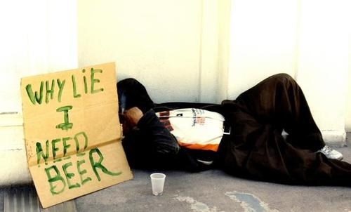 beer,homeless,funny,sign