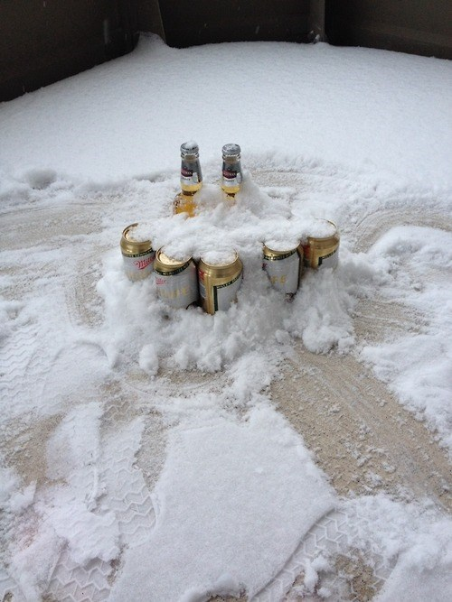 beer snow cold ice funny