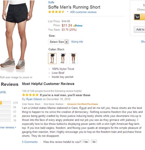 shorts,amazon,trolling