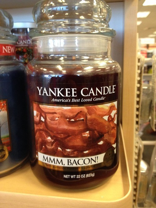 bacon,candles,scents