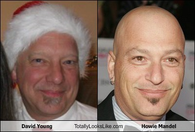 david young,howie mandel,totally looks ike