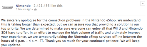 FAIL nintendo facebook news eshop Video Game Coverage - 7975023616