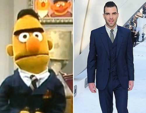 Zachary Quinto totally looks like Sesame Street bert and ernie - 7975073280