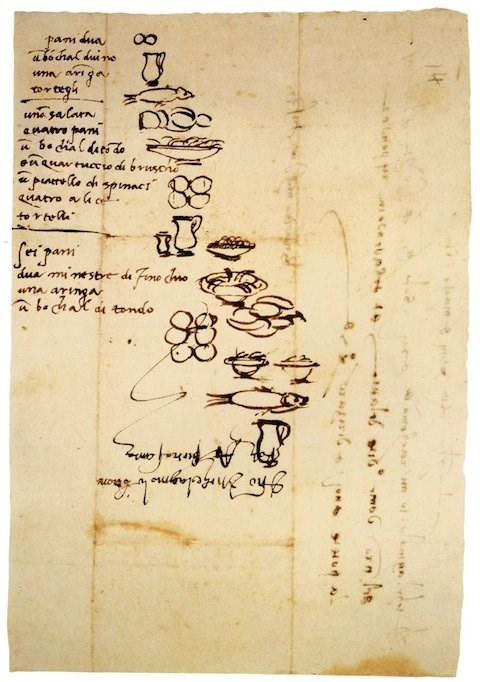 Historical Find of the Day: Even Michelangelo's Grocery Lists Were Works of Art