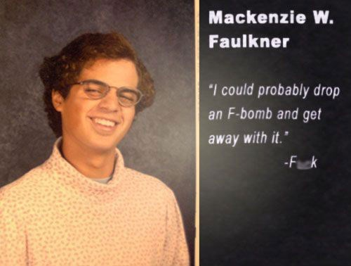yearbook photos,f bomb,funny