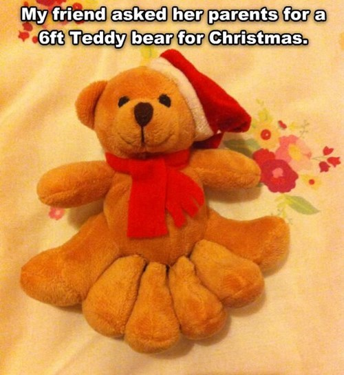 christmas kids teddy bears parenting literalism