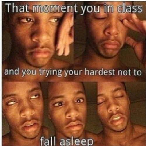 class tired sleep funny
