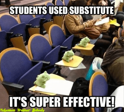 class students funny substitute Pokémon - 7975162624