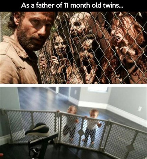 Babies,parenting,zombie,twins,g rated