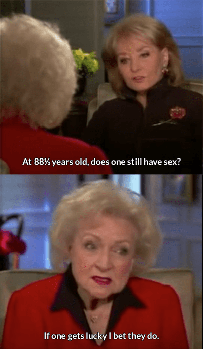 barbara walters,betty white,octogenarian