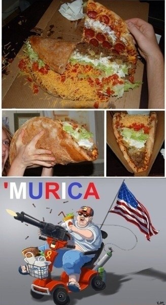 tacos pizza murica food - 7975203072