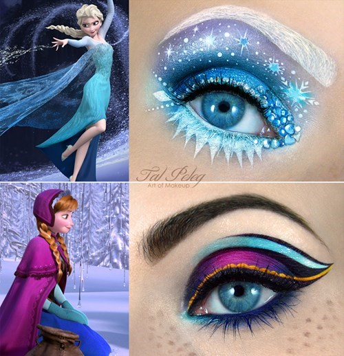 cartoons frozen make up eye make up
