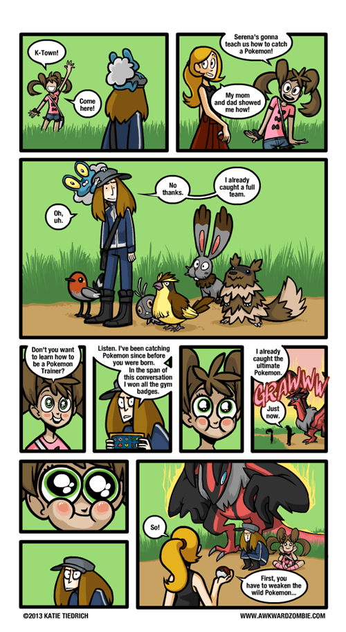 Pokémon,web comics,awkward zombie