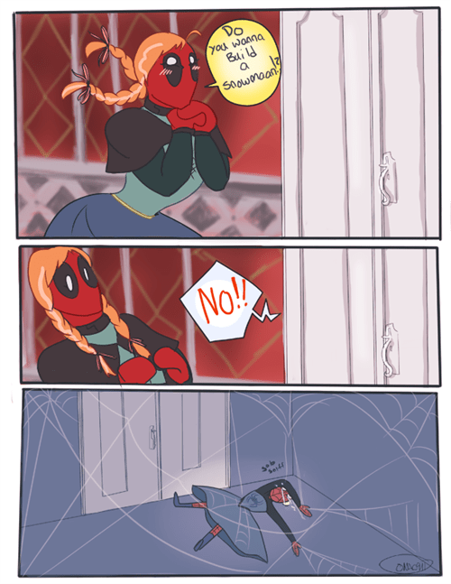 deadpool,frozen,Spider-Man