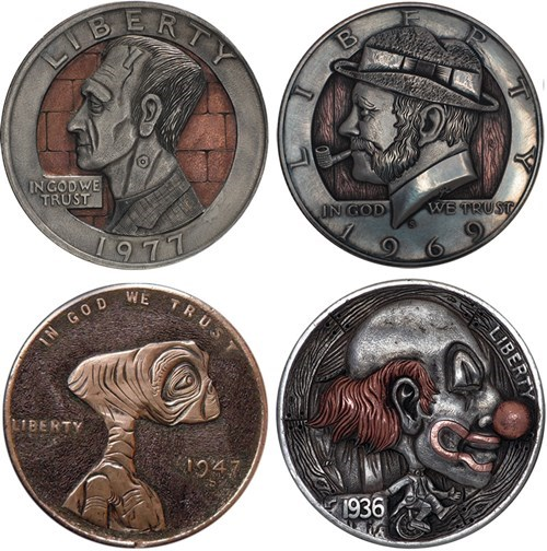 hobo nickels carving currency - 7975305728