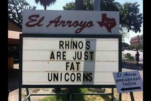sign wisdom unicorns rhinos true facts g rated win
