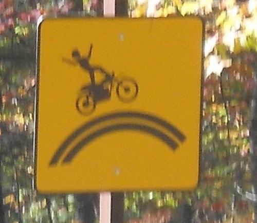 warning sign stunts bikes - 7975314688