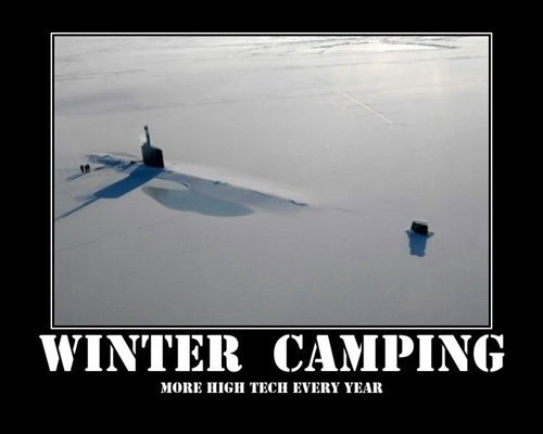 camping funny style x files submarine winter - 7975384832