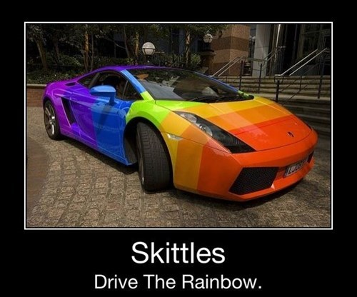 awesome car candy funny skittles - 7975399424