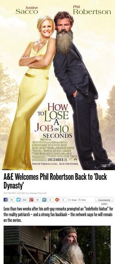 a&e,TV,duck dynasty,phil robertson,justine sacco,a&e,a&e,a&e,a&e