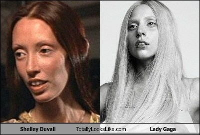 lady gaga,totally looks like,shelley duvall