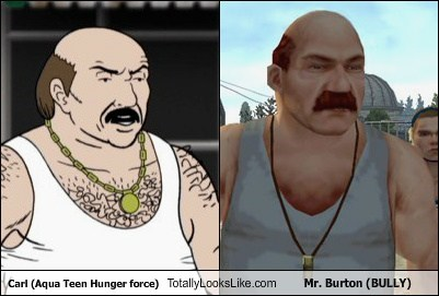 aqua teen hunger force,carl,bully,totally looks like,mr-burton