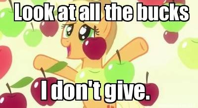apples applejack all the bucks I don't give - 7976292352