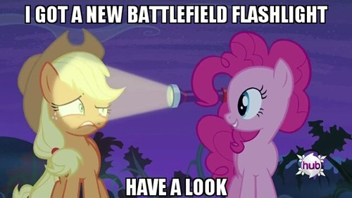 battlefield,flashlight,pinkie pie