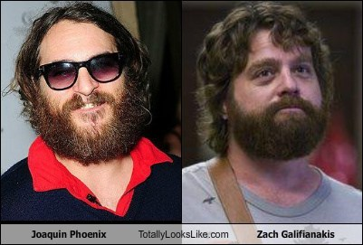 Joaquin Phoenix,totally looks like,Zach Galifianakis