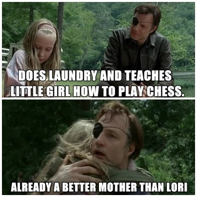 lori grimes,parenting,the governor