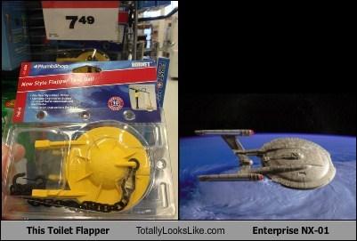enterprise totally looks like Star Trek toilet flapper - 7976849152