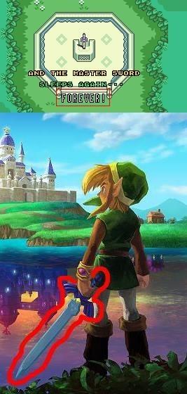 nintendo master sword zelda - 7977120256