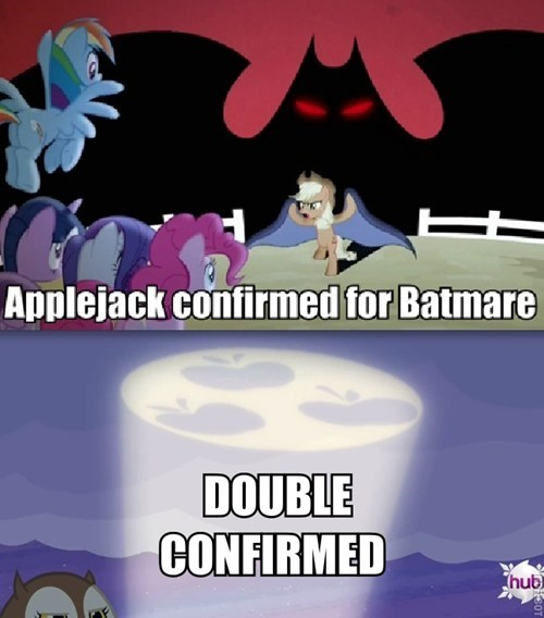 applejack batman mashup - 7977257472