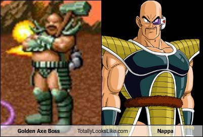 boss,Dragon Ball Z,Golden Axe,totally looks like,nappa
