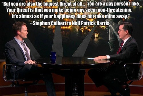 stephen colbert gay marriage Neil Patrick Harris