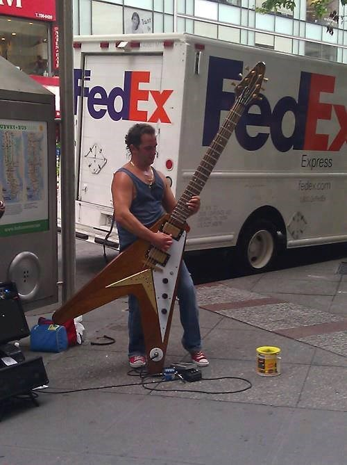 guitar too big flying v g rated Music