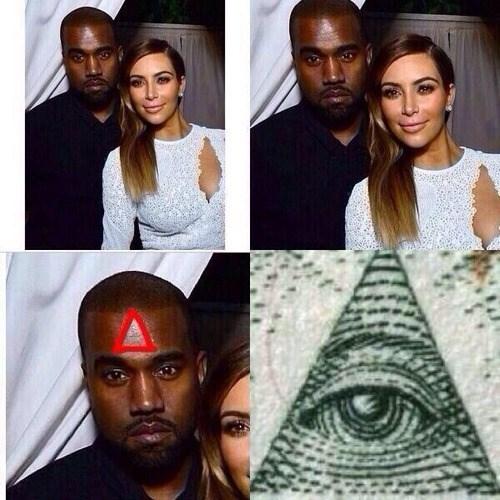 illuminati kim kardashian kanye west - 7977938432
