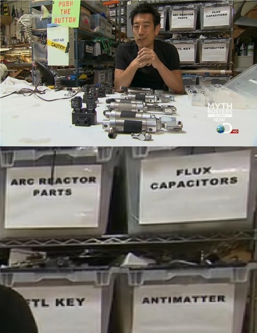 flux capacitors,mythbusters,antimatter