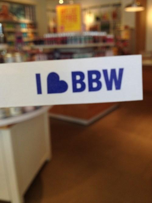 bbw bath and body works slogans