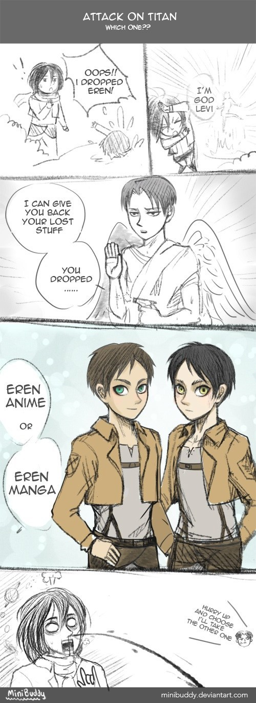 anime Fan Art manga web comics attack on titan - 7978612736