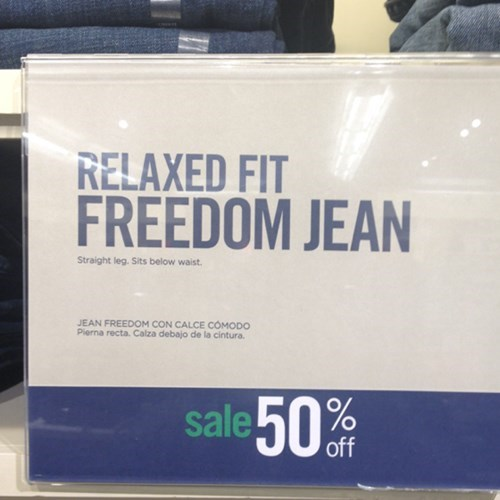 clothes freedom jeans - 7978928128