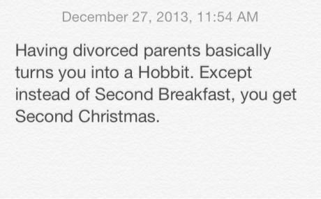 christmas divorce hobbits kids parenting
