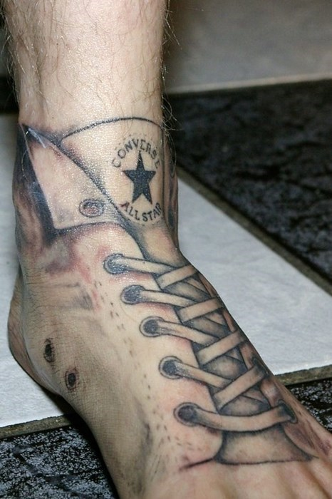 feet converse shoes tattoos g rated Ugliest Tattoos - 7979080192