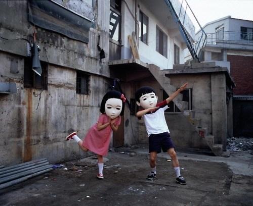 dancing creepy masks wtf - 7979118080