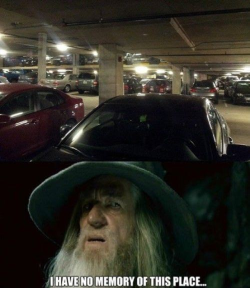 cars,driving,Lord of the Rings,parking garages