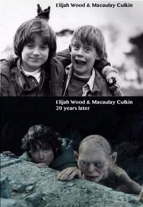 elijah wood,gollum,Lord of the Rings,Macauley culkin