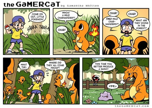 Pokémon shinies charmander web comics breeding