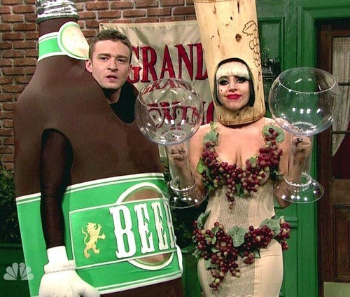 beer wine lady gaga Justin Timberlake funny - 7979233024