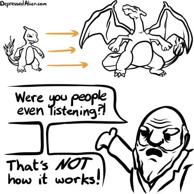 Pokémon evolution Darwin web comics - 7979238656